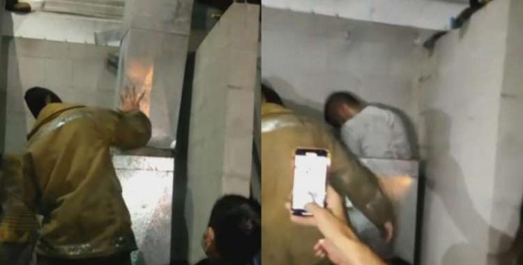 VIDEO Un delincuente ingresó a robar en una fábrica y quedó atascado en la chimenea   El Diario 24