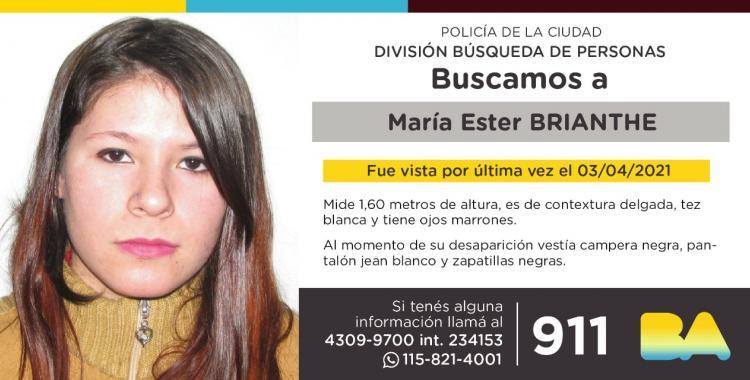 Desesperada búsqueda de María Esther Brianthe: denunció a su pareja y desapareció | El Diario 24