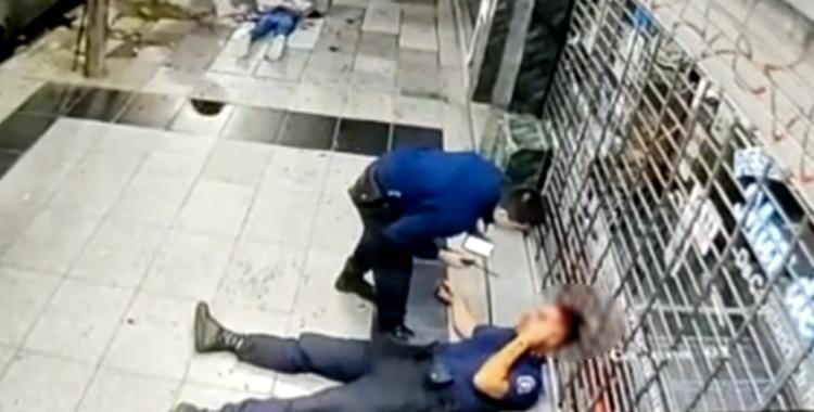VIDEO Balean a un policía en la cabeza mientras perseguía a 4 delincuentes | El Diario 24
