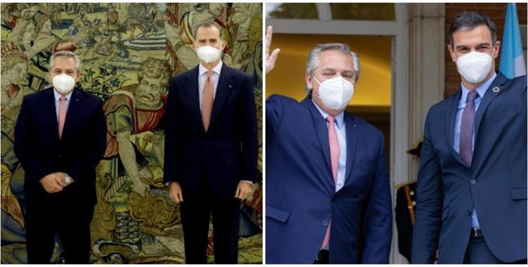 Alberto Fernández, con el Rey de España y Pedro Sánchez: los temas que trataron y apoyo en las negociaciones con el FMI   El Diario 24