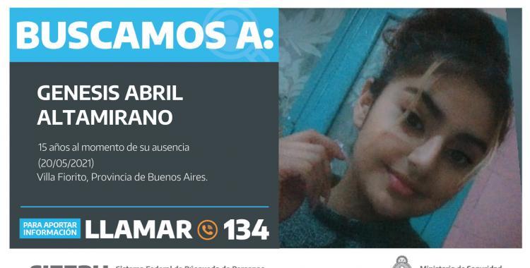 Búsqueda desesperada: Génesis Altamirano tiene 15 años y no se sabe nada de ella hace 4 días | El Diario 24