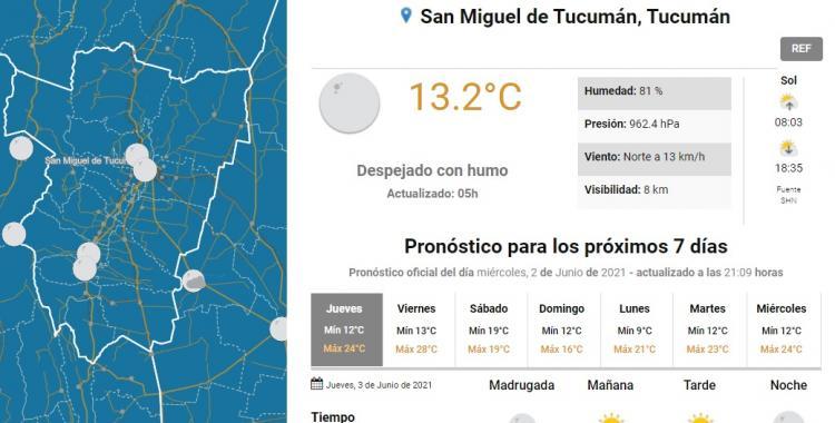 Clima en San Miguel de Tucumán: pronóstico para hoy jueves 3 de junio   El Diario 24