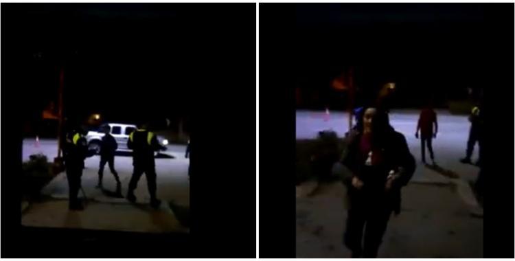 VIDEO ¡Prendé fuego!: Rociaron con alcohol la puerta de una comisaría para incendiarla   El Diario 24