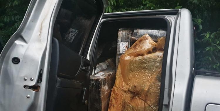 Descubren una camioneta abandonada con más de una tonelada de marihuana en su interior | El Diario 24