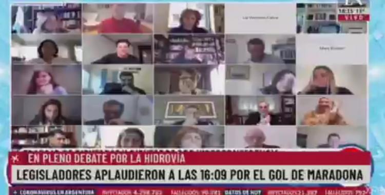VIDEO: Un diputado quiso gritar el gol de Maradona a los ingleses en el Congreso y no lo dejaron | El Diario 24
