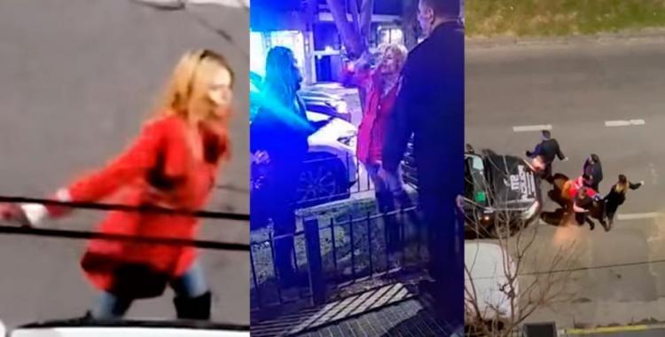 VIDEO: en una noche de furia, una mujer destrozó una camioneta con un matafuego | El Diario 24