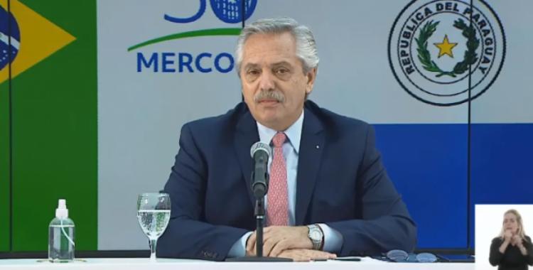 Alberto Fernández pidió a Brasil y Uruguay no cortarse solos en el Mercosur | El Diario 24