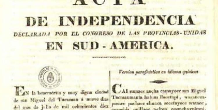 Una docente tucumana recordó que el Acta de la libertad fue redactada en castellano, quechua y aymara | El Diario 24