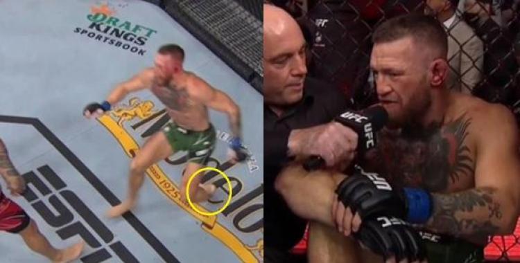 VIDEO La horrible lesión que sufrió Conor McGregor en la pelea contra Dustin Poirier | El Diario 24