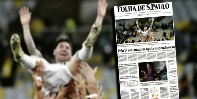 Mirá cómo reflejaron los diarios brasileños el triunfo de Argentina y Messi en el Maracaná | El Diario 24