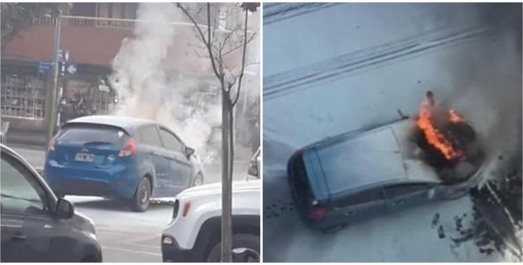 VIDEO Se quemó todo: un auto se incendió en pleno Barrio Norte | El Diario 24