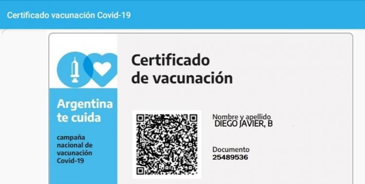 La credencial digital de vacunación Mi Argentina funcionará como documento internacional de vacunación | El Diario 24