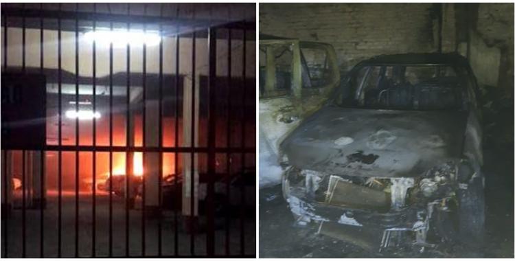Incendio en una guardería de autos en Barrio Norte | El Diario 24