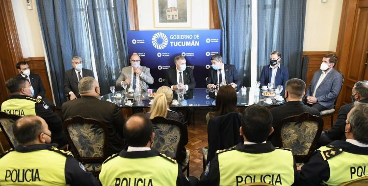 Osvaldo Jaldo se reunió con funcionarios de Seguridad y la cúpula policial | El Diario 24