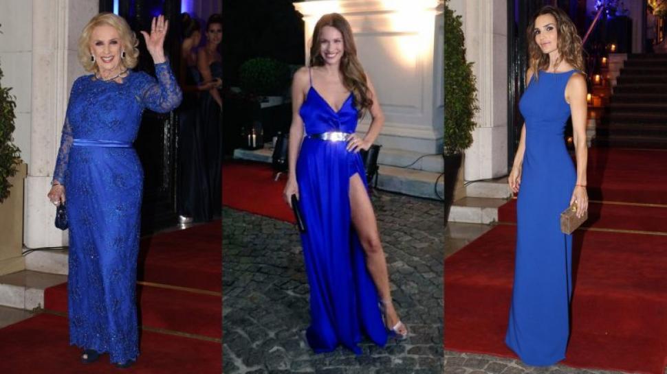 Vestidos elegantes azul francia