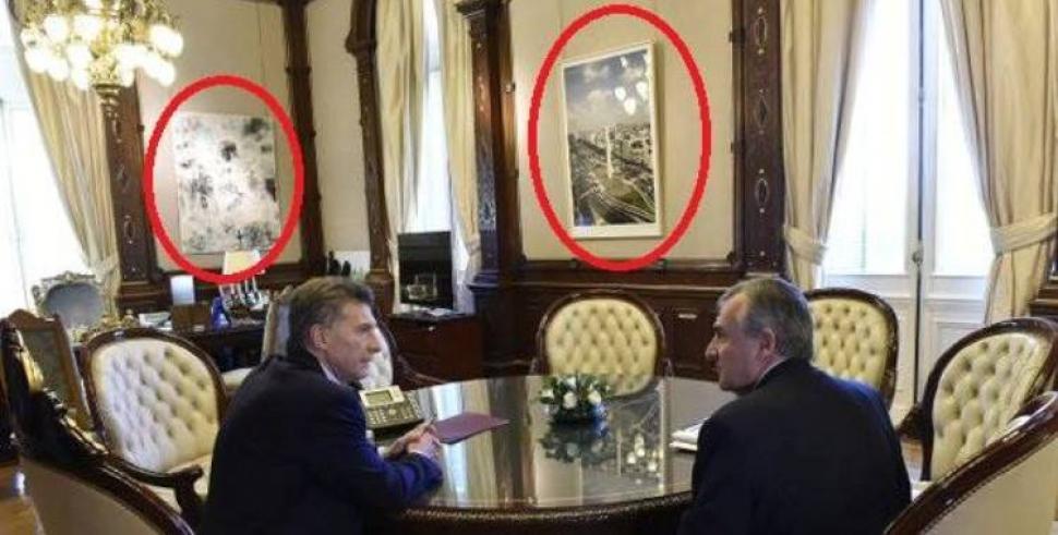 Macri sac los cuadros de san mart n y belgrano del - Cuadros para despachos ...