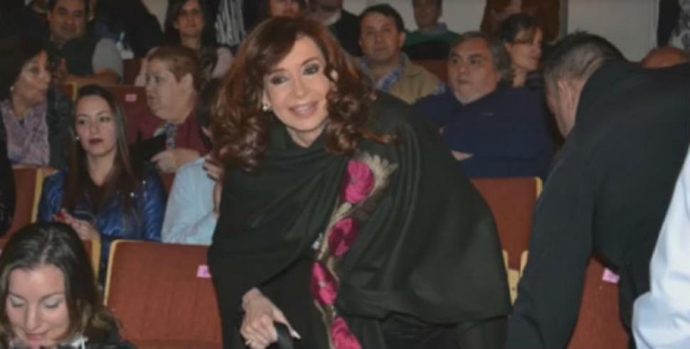 Fin de semana de teatro para Cristina Fernández