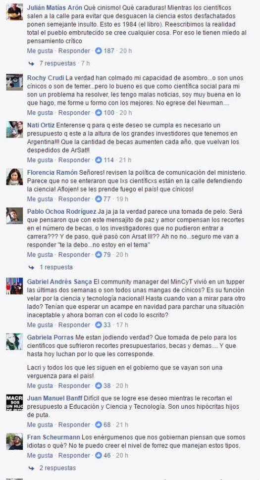 Indignaci n en las redes sociales por el doble discurso for Ministerio de ciencia