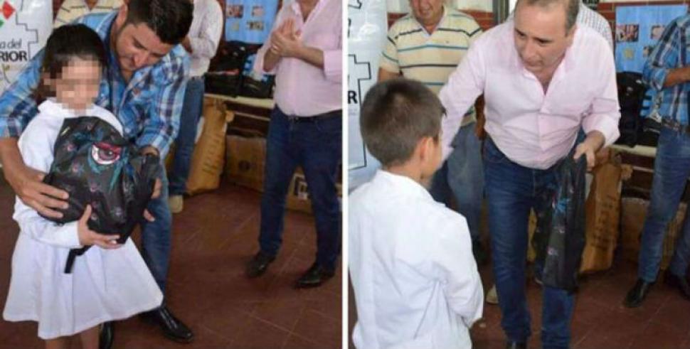 Escndalo en Santiago del Estero intendente entreg mochilas con
