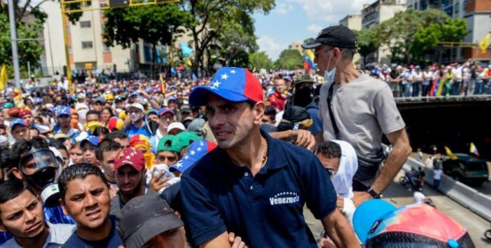 Ampliar                      Capriles convoca a una nueva movilización para el jueves