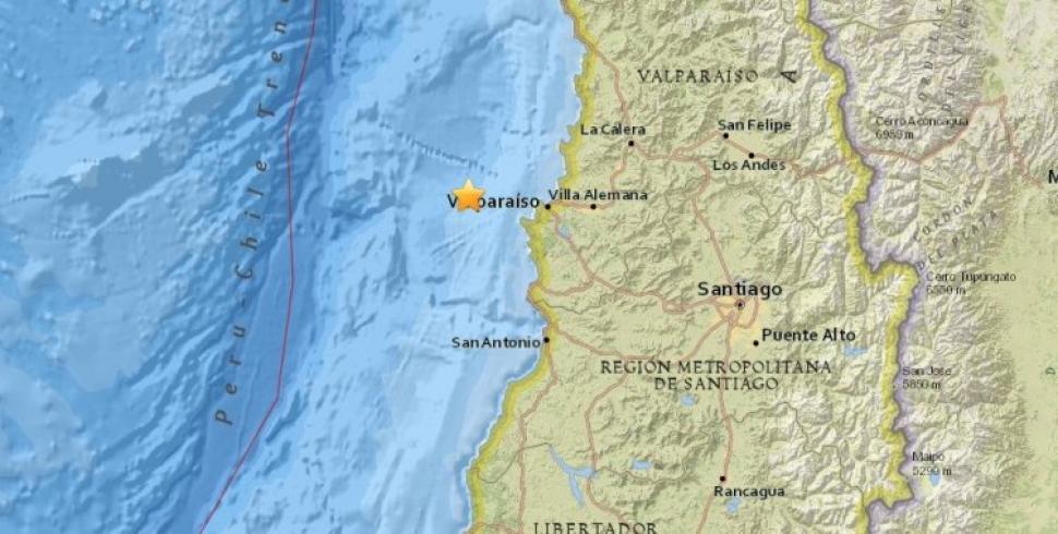 Sismo de magnitud 7.1 sacude a la zona centro de Chile